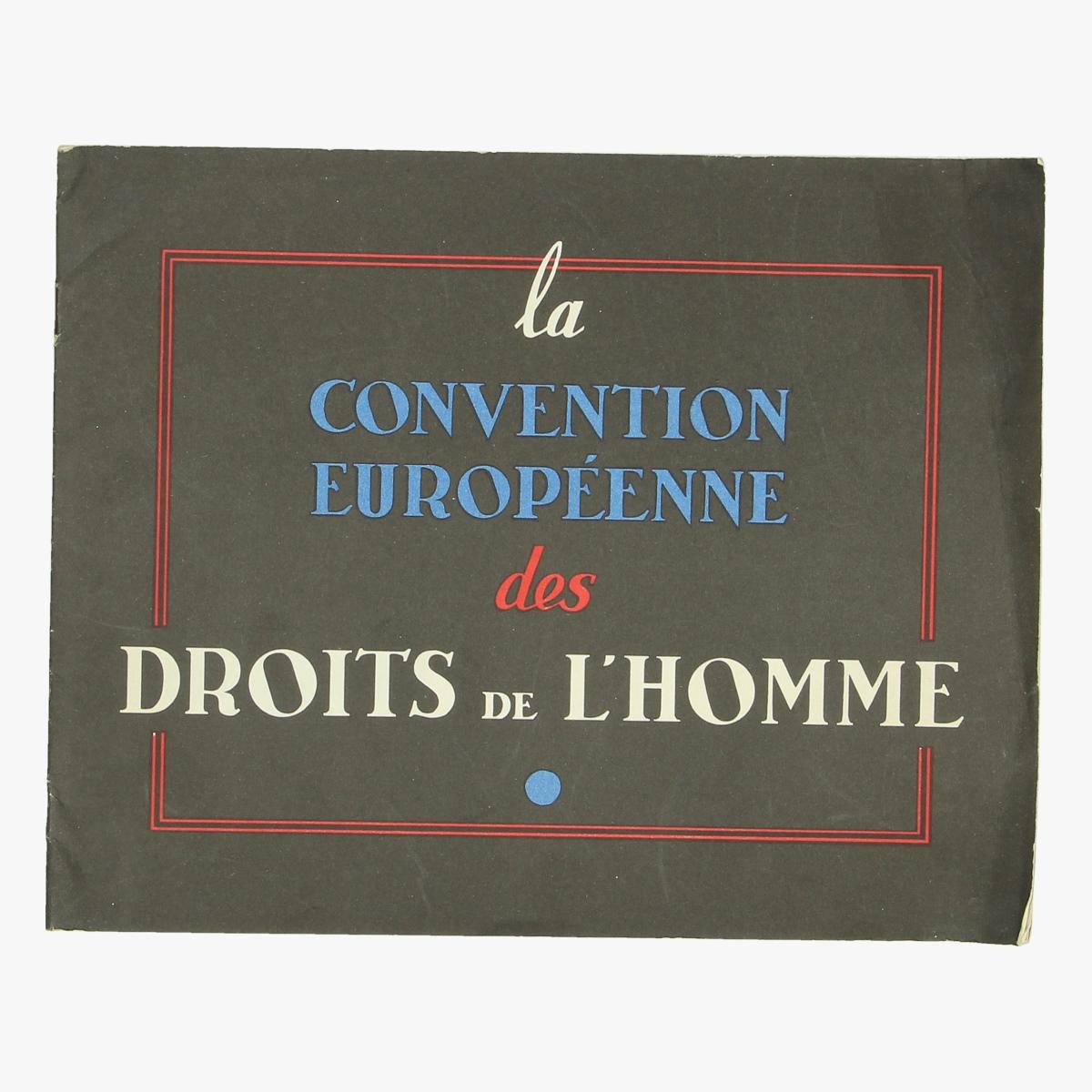 Afbeeldingen van boekje la convention européenne des droits de l'homme