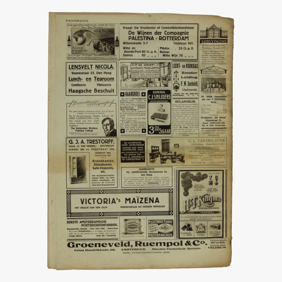 Afbeeldingen van oude weekblad panorama N°28  5 april 1915