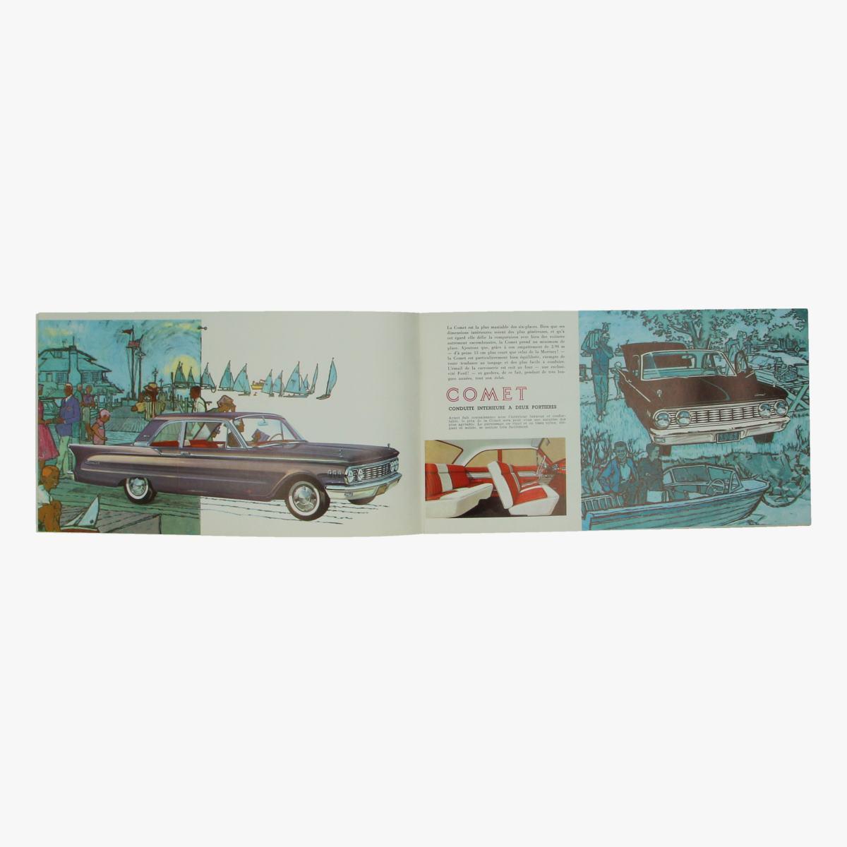 Afbeeldingen van oude reclame boekje comet 1961