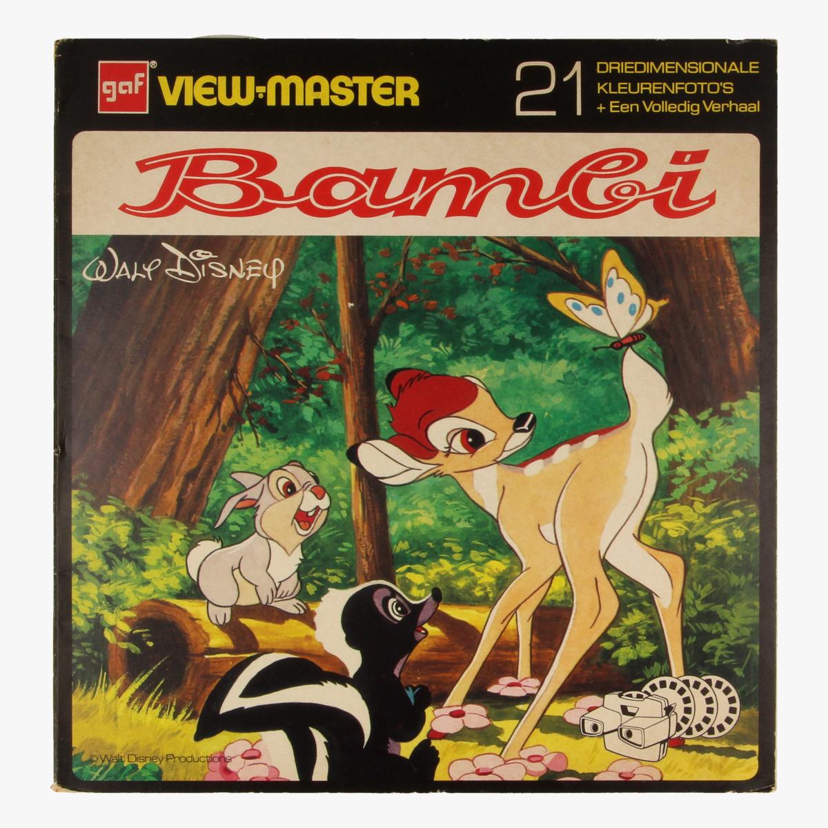 Afbeeldingen van View-master Bambi B4001,B4002,B4003