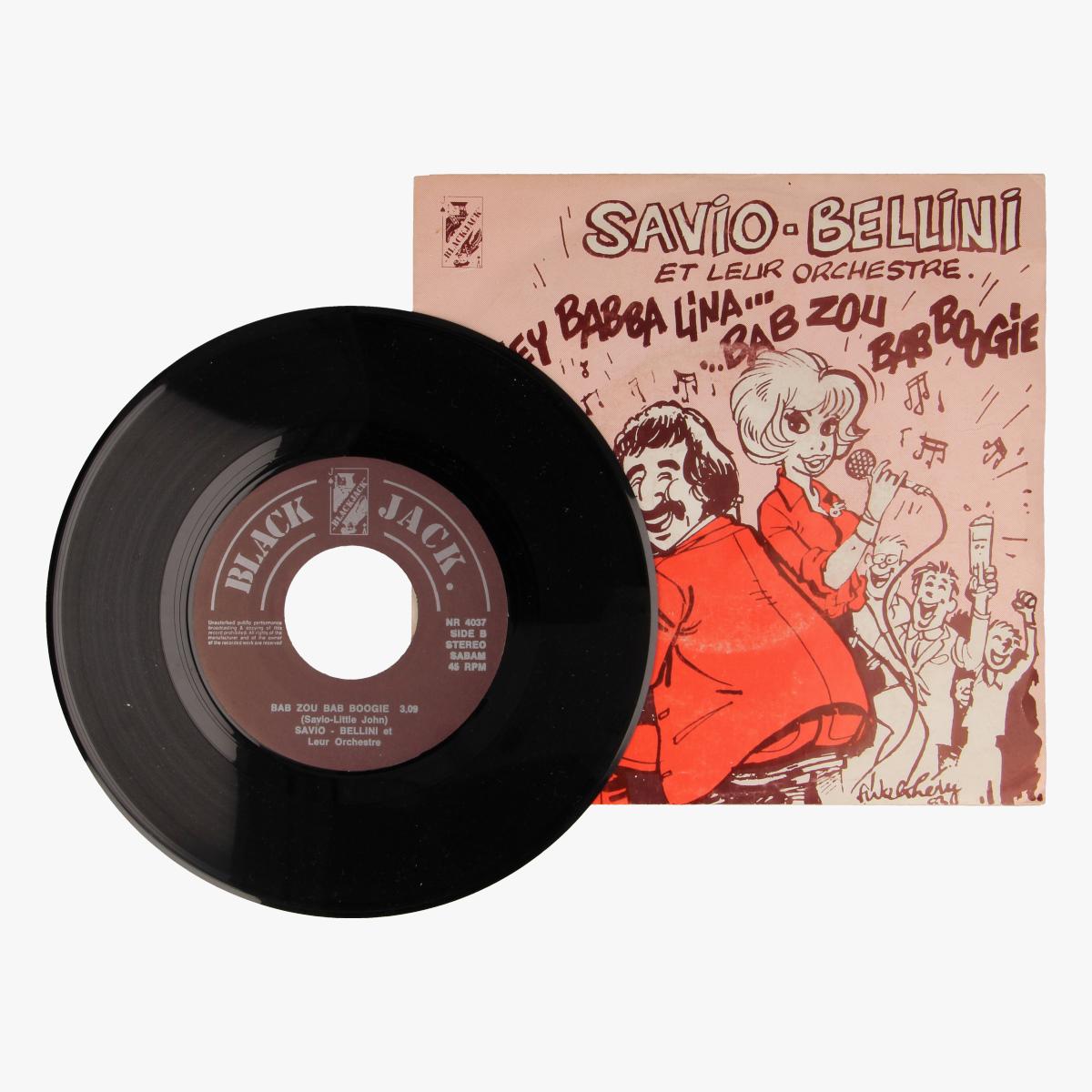 Afbeeldingen van Savio- bellini - hey baby lina, bab zou bab boogie LP 45toeren