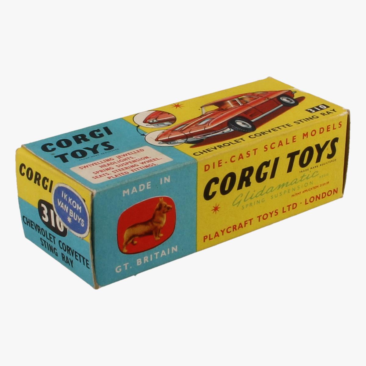 Afbeeldingen van Corgi Toys. Chevrolet Corvette Sting Ray. Nr.310