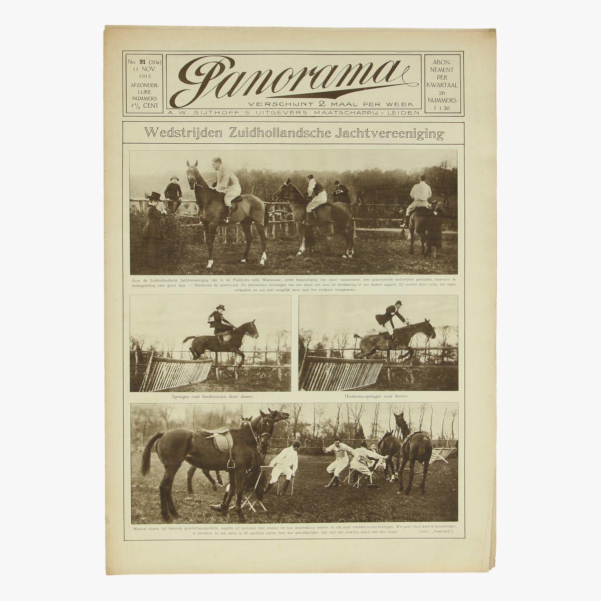 Afbeeldingen van oude weekblad Panorama 11 nov 1915 n°91 (20a)
