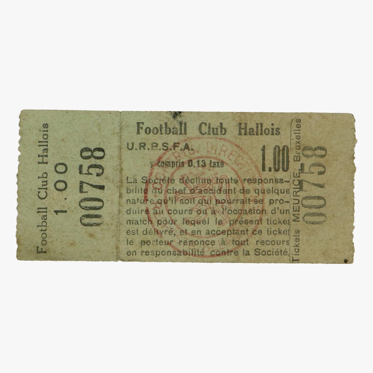 Afbeeldingen van voetbal ticket club hallois