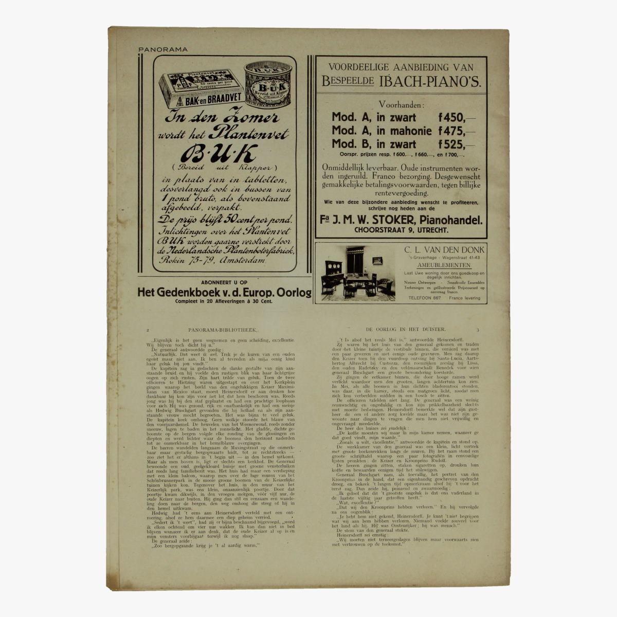 Afbeeldingen van oude weekblad panorama N°51  24 juni 1915