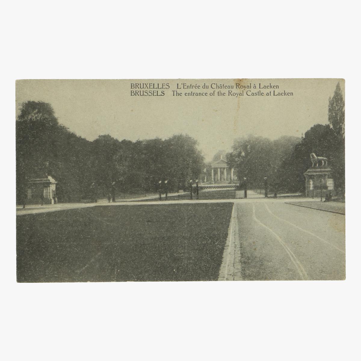 Afbeeldingen van postkaart brussels the entrance of the royal castle at laeken