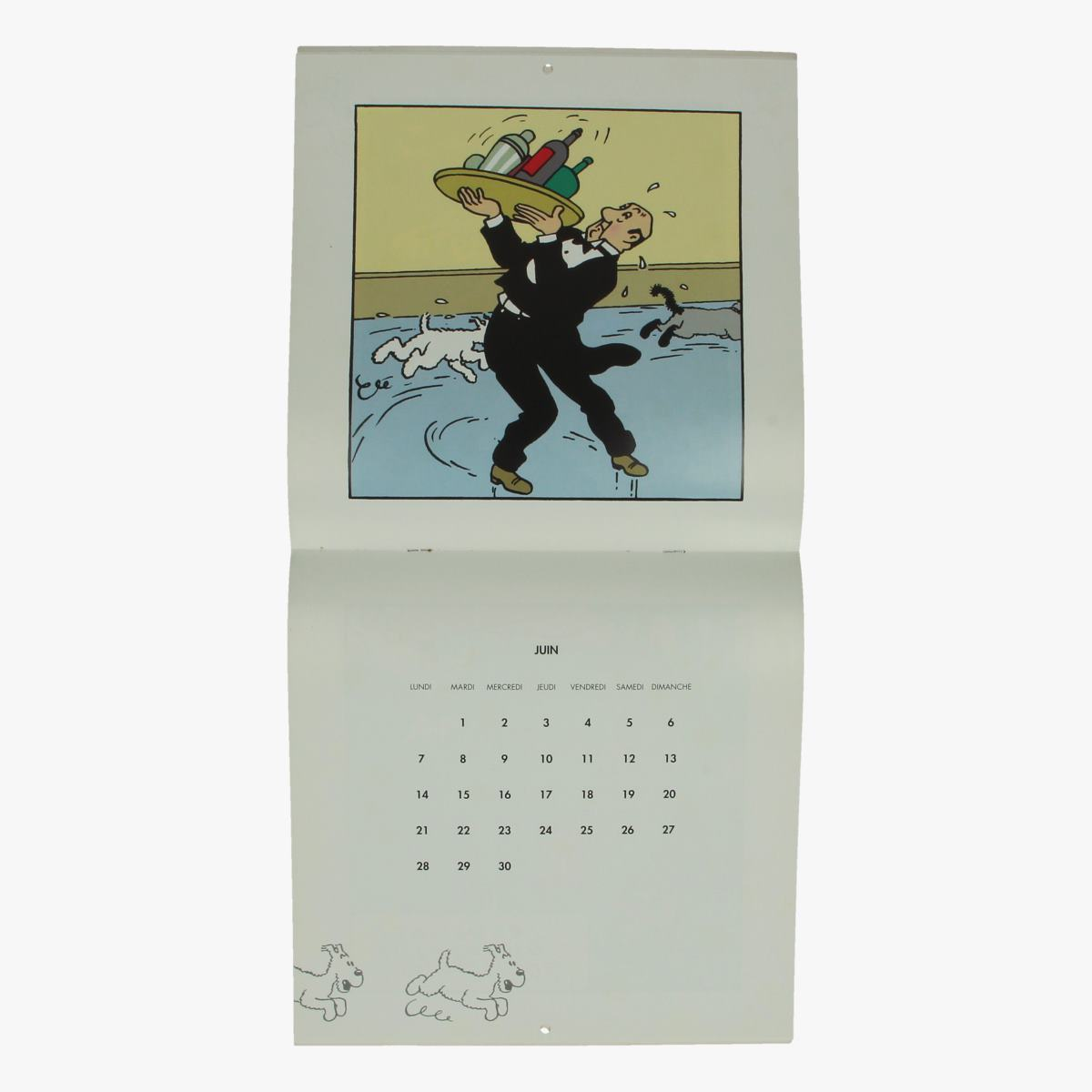Afbeeldingen van kalender Hergé bien joué, Milou 1993