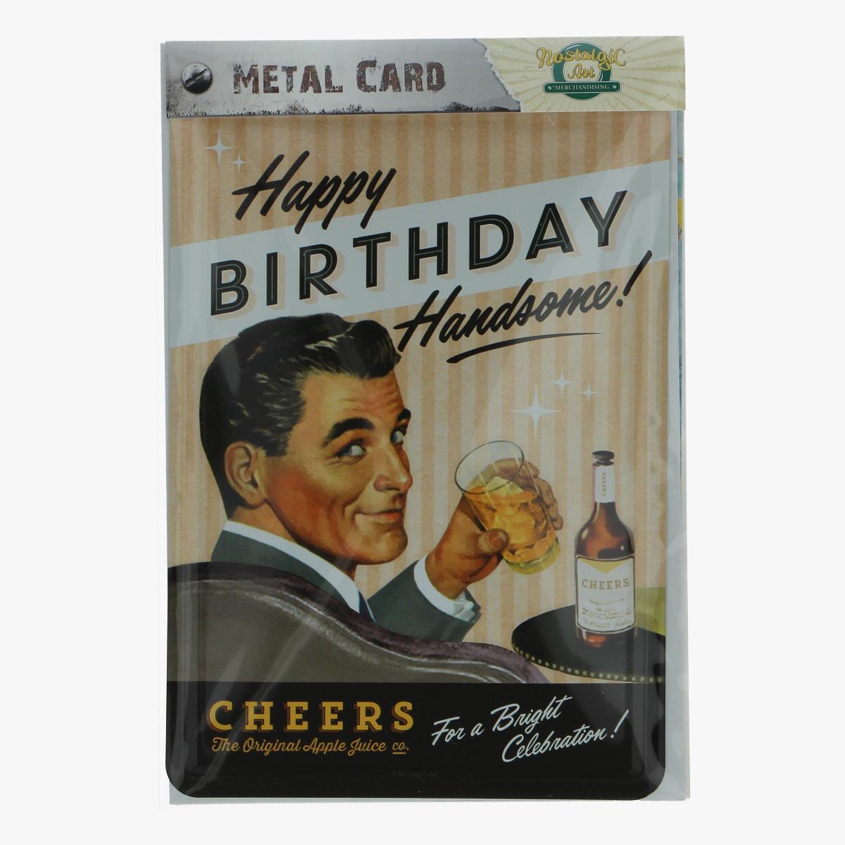 Afbeeldingen van metal card happy birthday handsome!