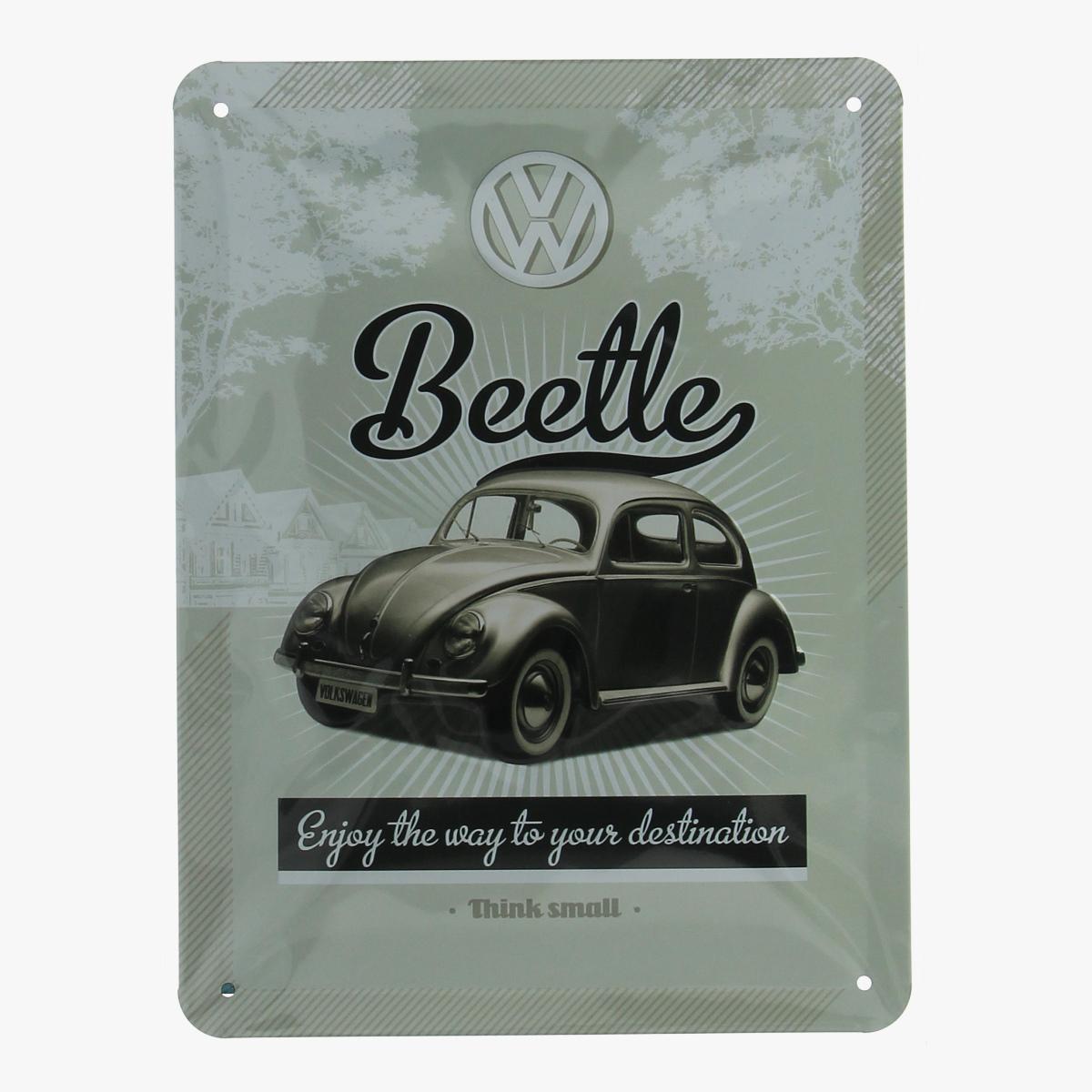 Afbeeldingen van blikken bordje volkswagen beetle