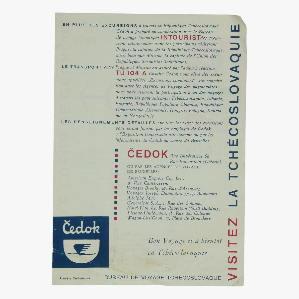 Afbeeldingen van expo 58 flyer le pavillon tchécoslovaque