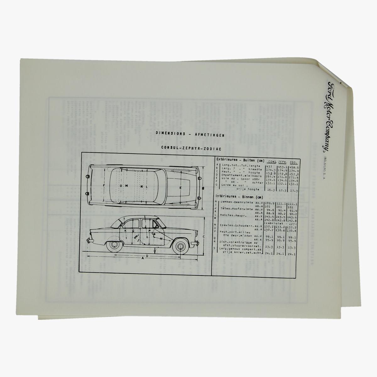 Afbeeldingen van oude folder 1961 ford motor company consul de luxe,zephyr de luxe en zodiac