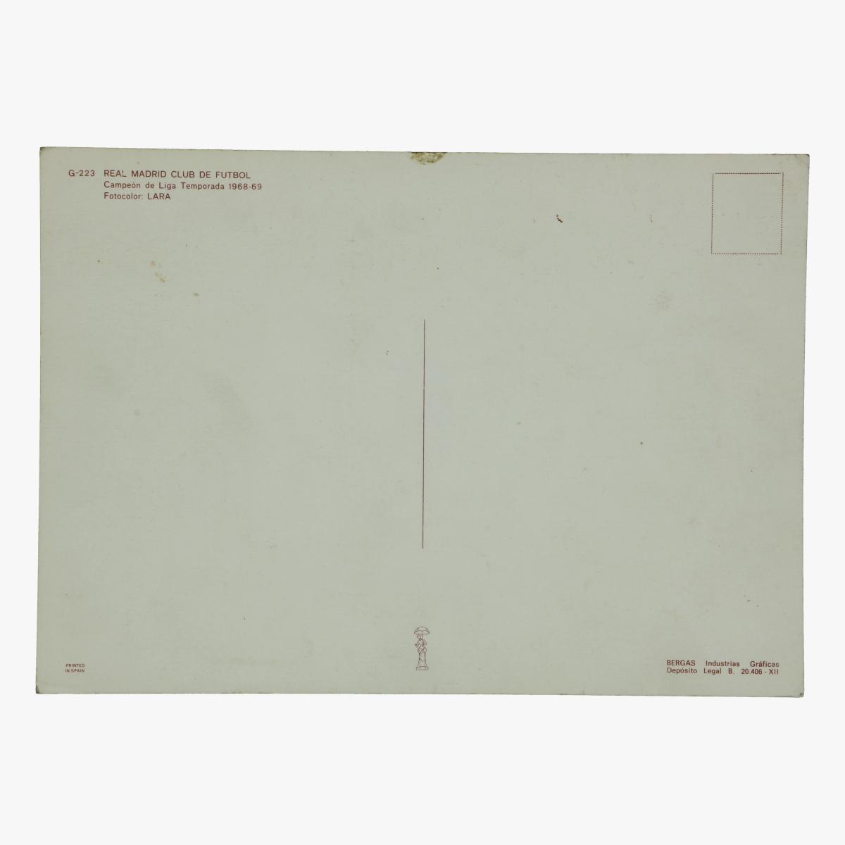Afbeeldingen van foto postkaart real madrid voetbal 1968 - 69