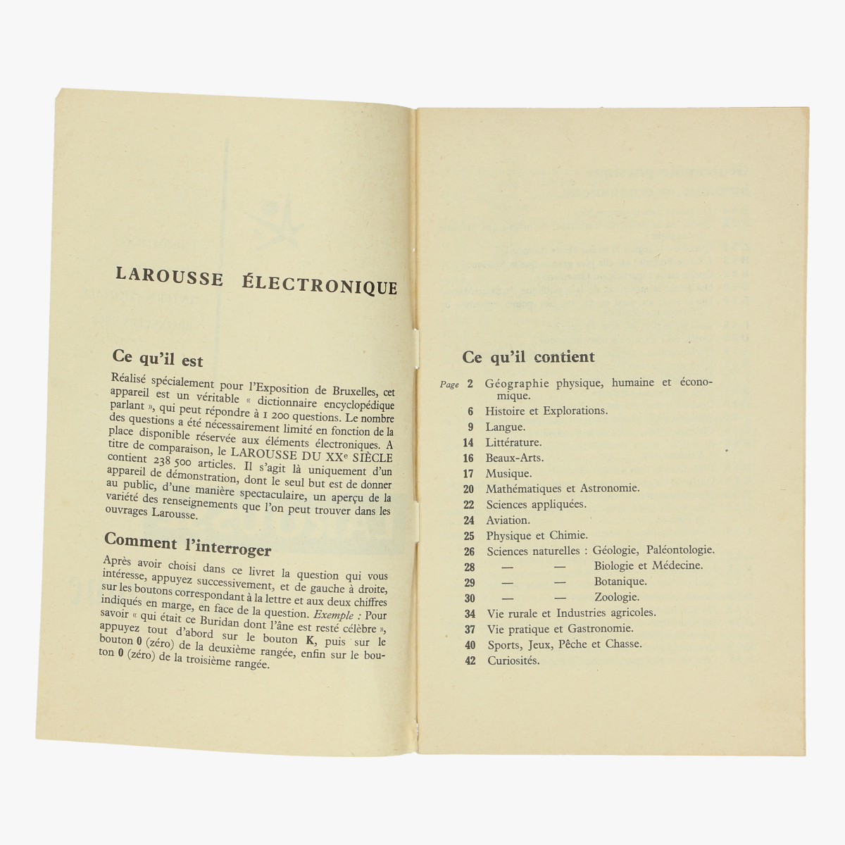 Afbeeldingen van boekje expo 58 exposition universelle internationale bruxelles larousse électronique