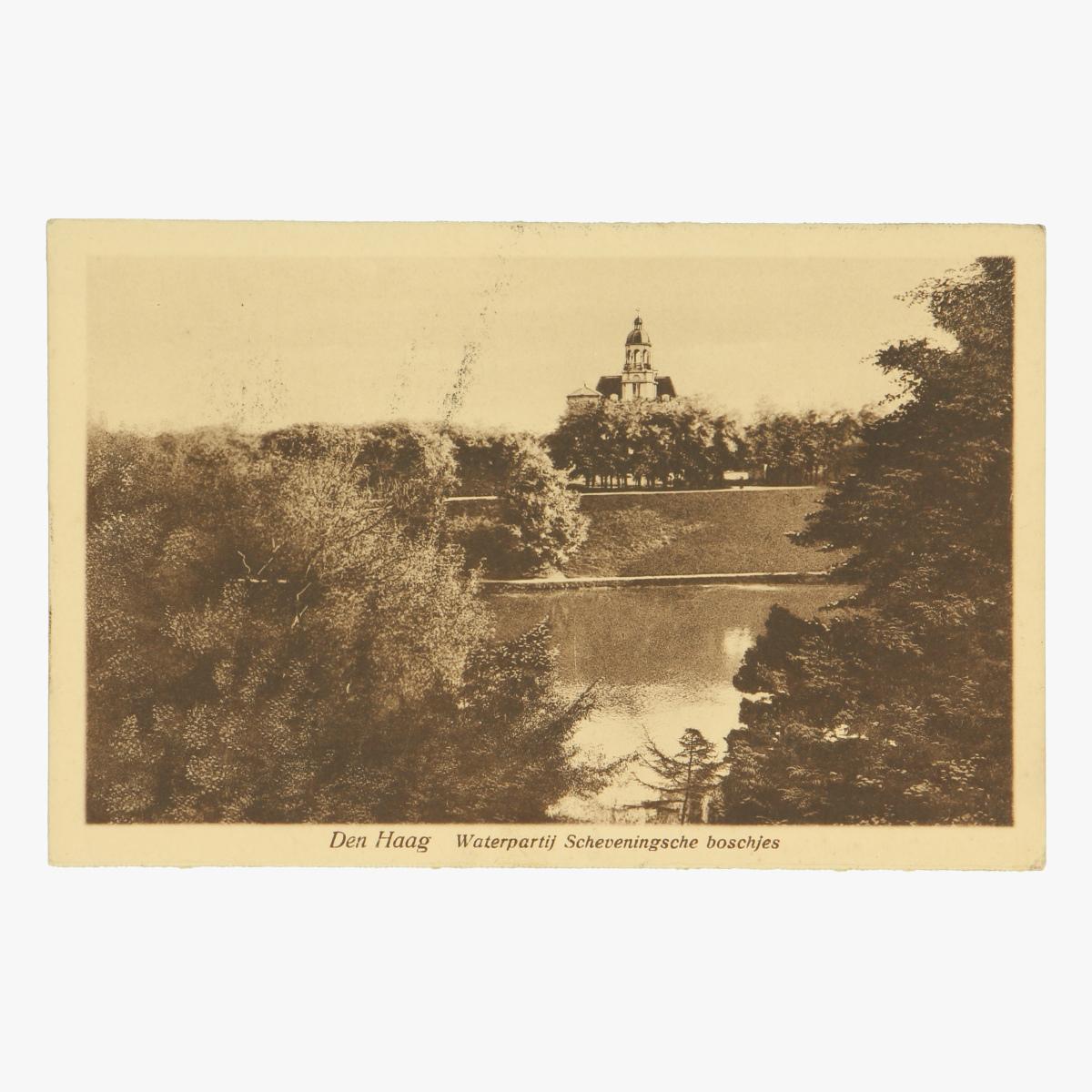 Afbeeldingen van Den Haag - Waterpartij Scheveningsche boschjes Postkaart Nr. 177 Uitgeverij Artur Klitzsch Den Haag