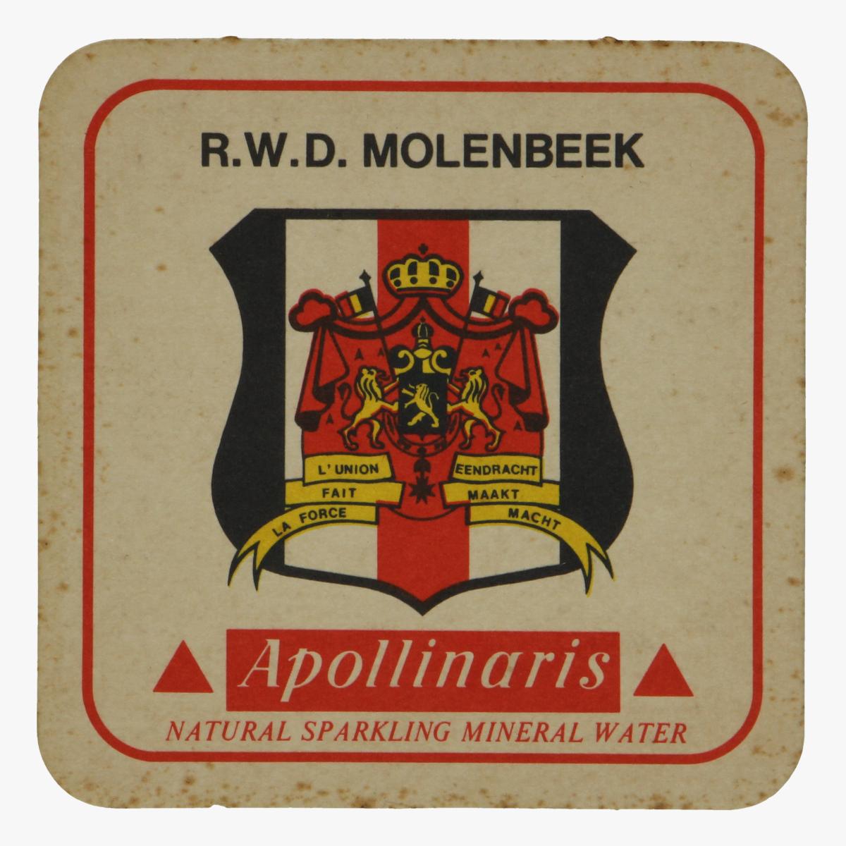 Afbeeldingen van bierkaartje r.w.d.molenbeek apollinaris