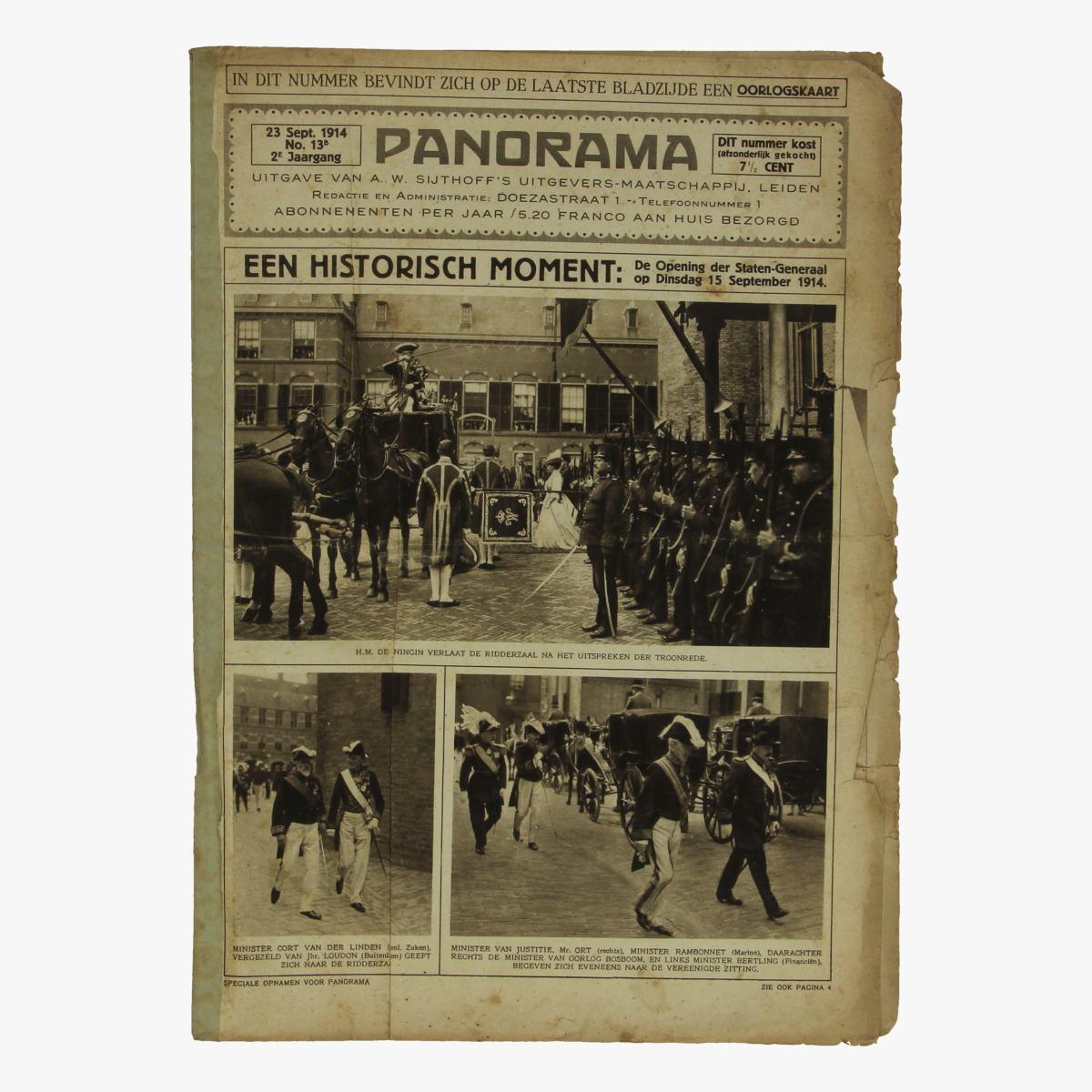 Afbeeldingen van oude weekblad panorama N°13b   23sept. 1914