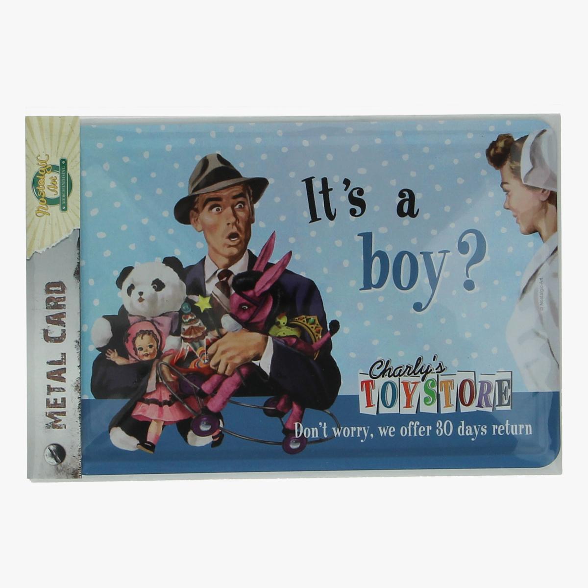 Afbeeldingen van metal card it's a boy?