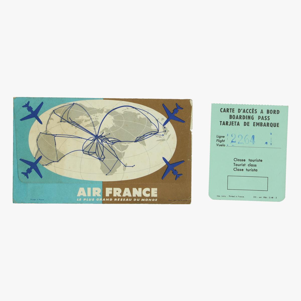 Afbeeldingen van air france boarding pas 1956