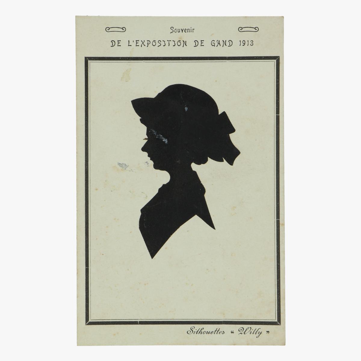 Afbeeldingen van postkaart wereldtentoonstelling gent 1913 silhouettes Willy