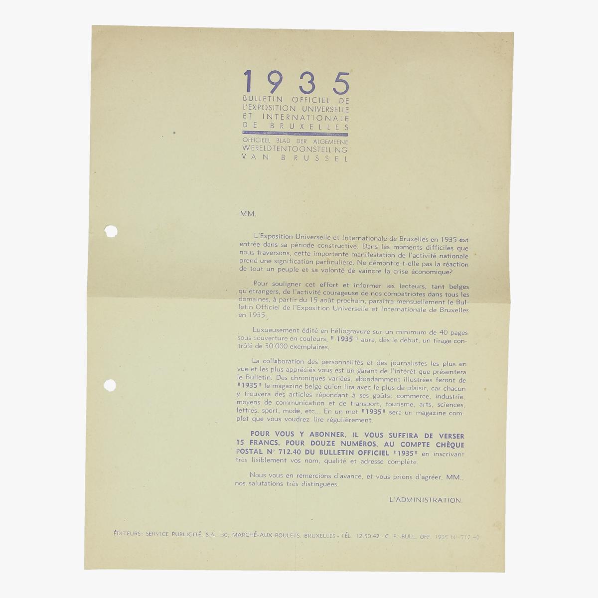 Afbeeldingen van officieel blad der algemeene wereldtentoonstelling van brussel 1935