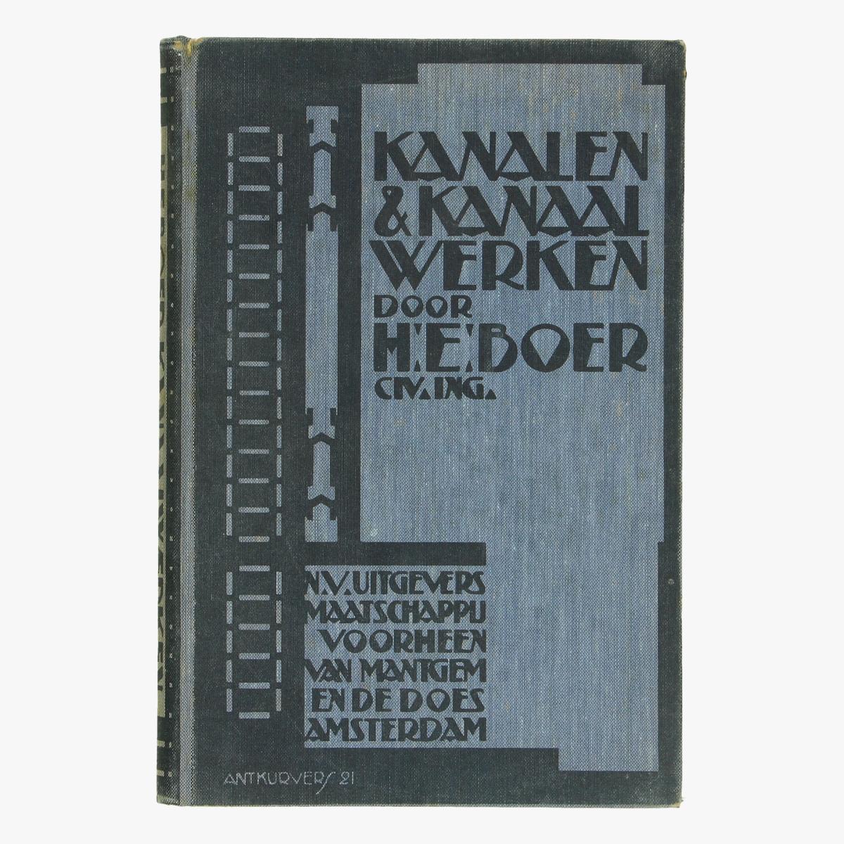 Afbeeldingen van boek kanalen & kanaal werken polders