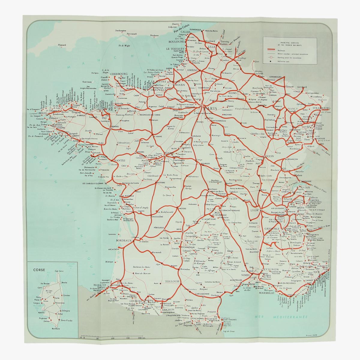 Afbeeldingen van expo 58  folder for your journey in france french railways 1958