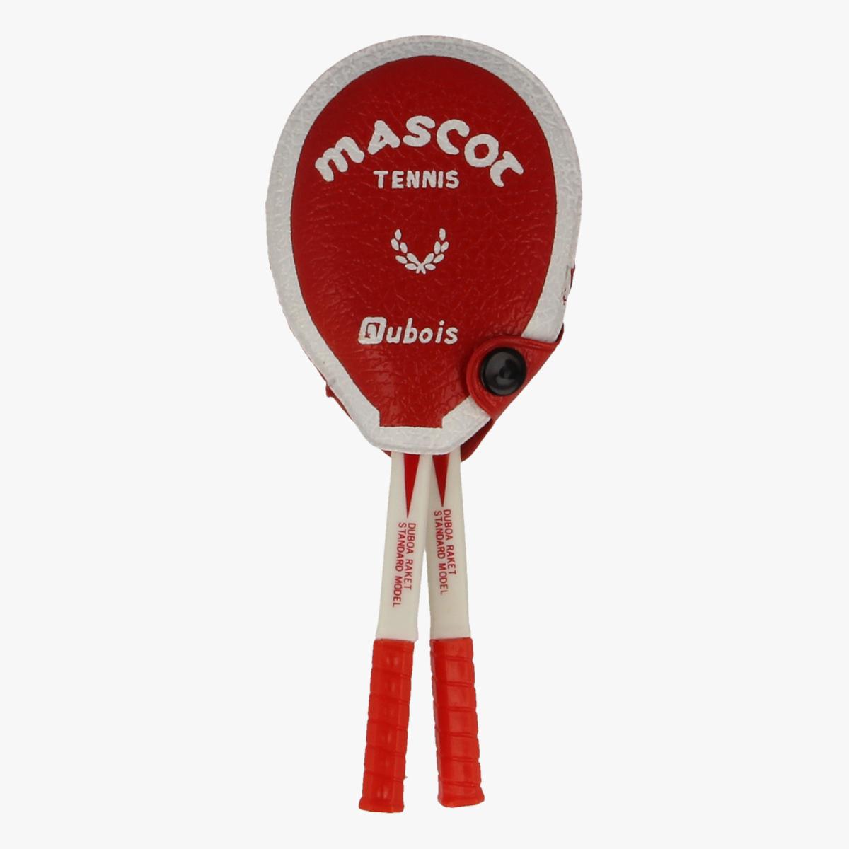 Afbeeldingen van Mini borstel & spiegel Mascot tennis