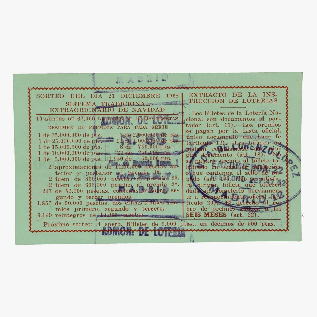 Afbeeldingen van ticket nationale loterij madrid tennis 1968