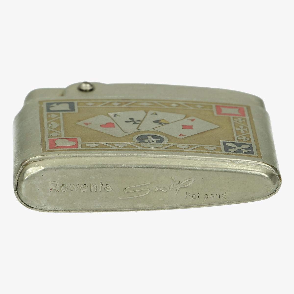 Afbeeldingen van oude aansteker spelkaarten vier azen rowenta snip