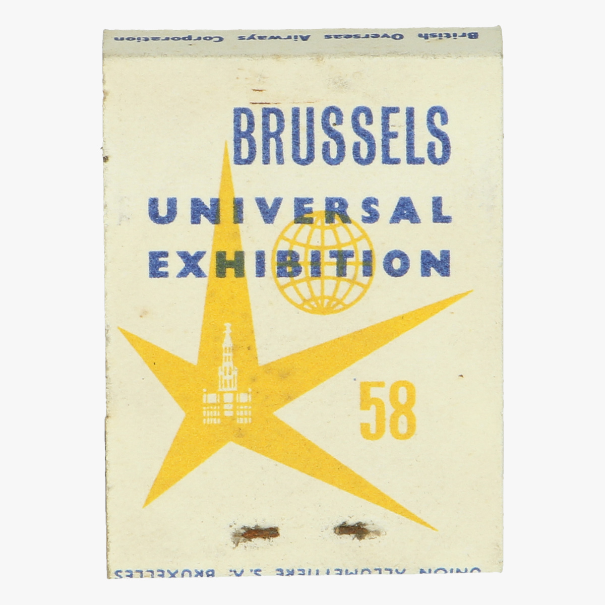 Afbeeldingen van expo 58 lucifers b.o.a.c the world wide airline