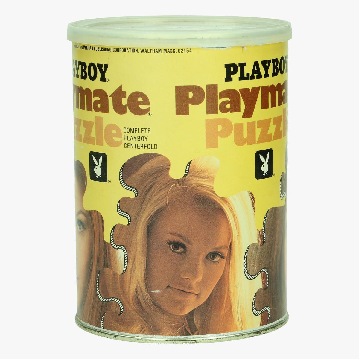 Afbeeldingen van vintage playboy puzzel mis march bonnie large jaren 70' produced by american publishing corporation .waltham mass