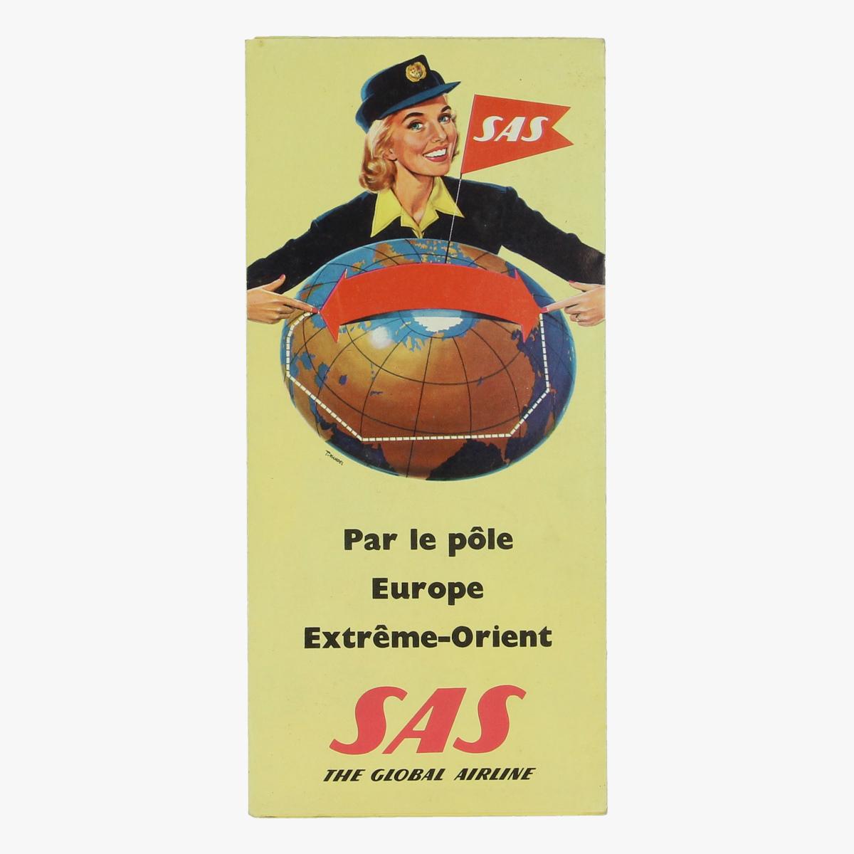 Afbeeldingen van folder sas scandinavian airlines dc-7c