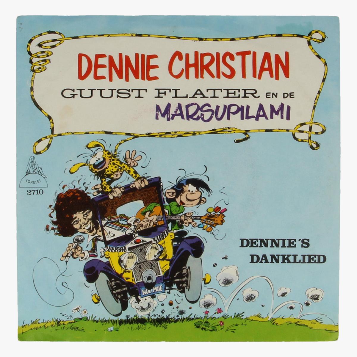Afbeeldingen van Dennie Christian Guust flater en de marsupilami 45 toeren