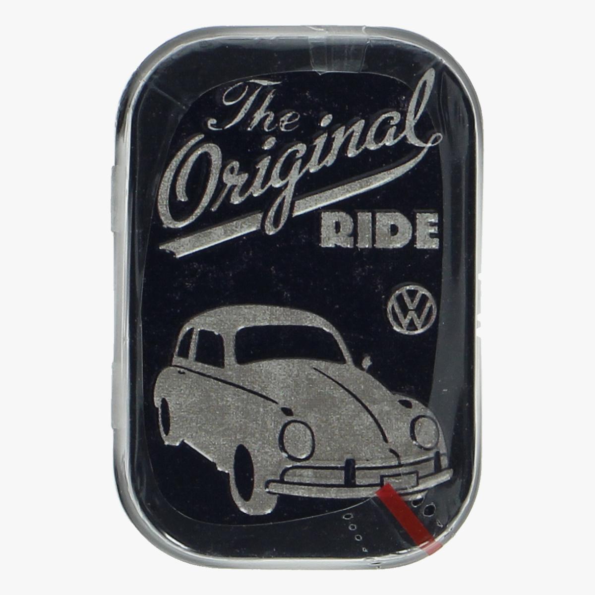 Afbeeldingen van blikken doosje mint snoepjes volkswagen kever the original ride