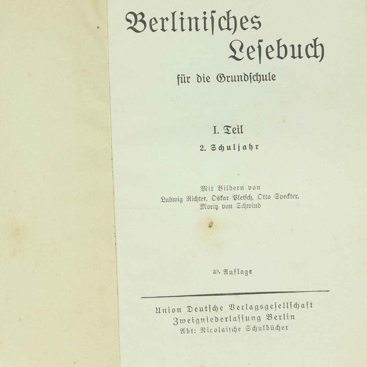 Afbeeldingen van Berlinifches Lefebuch für die Grundfchute