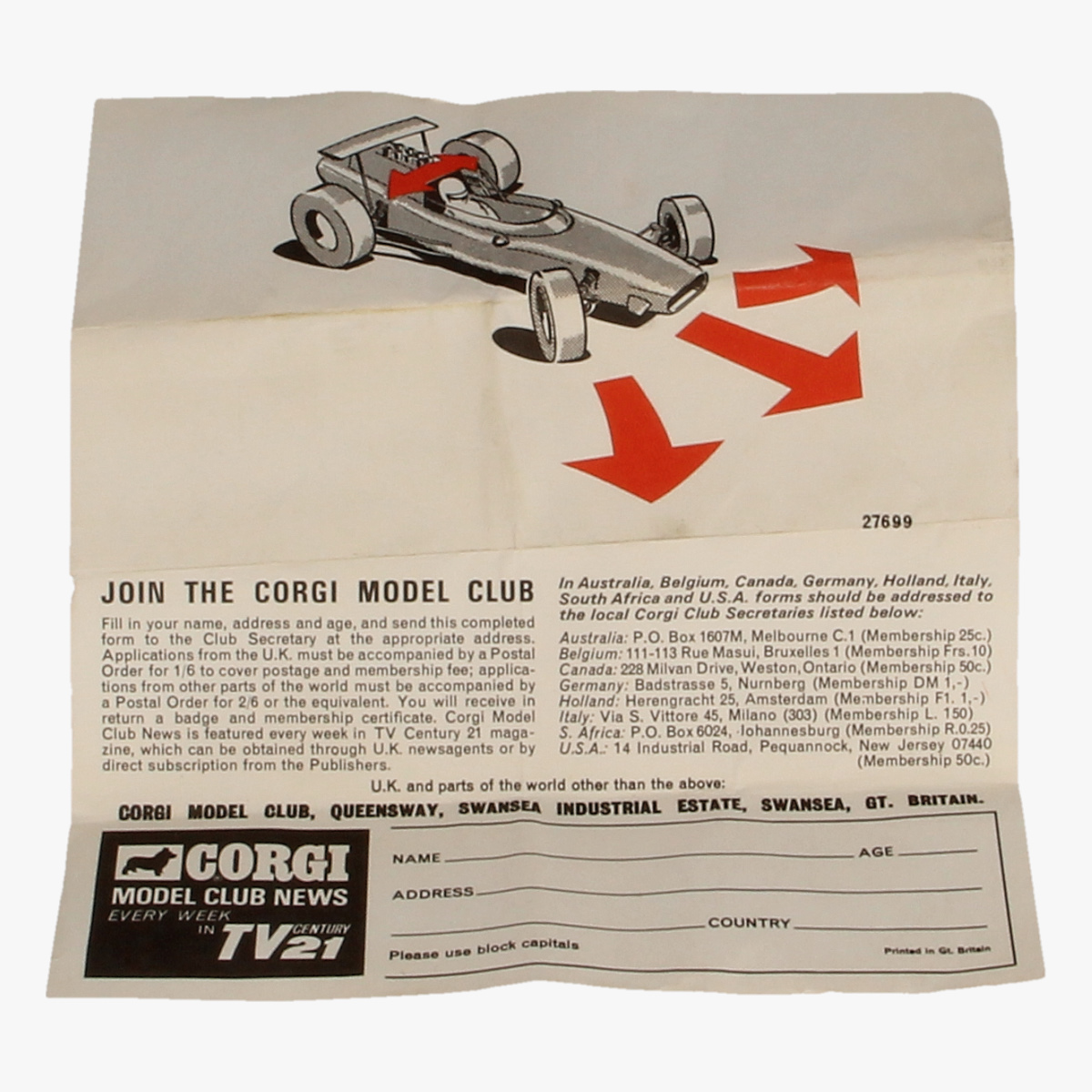 Afbeeldingen van Corgi Toys. Lotus Climax F/1 Nr. 158