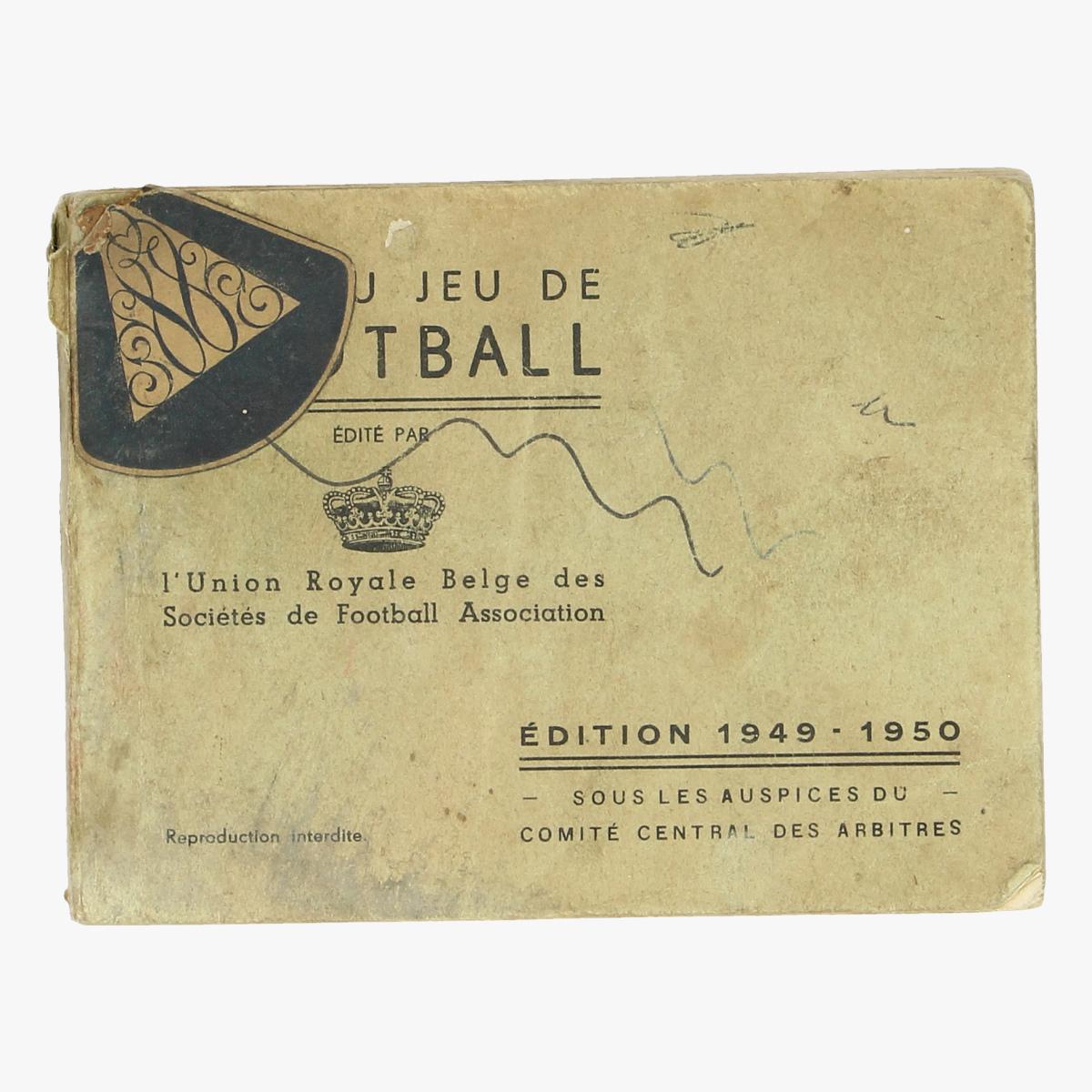 Afbeeldingen van voetbalreglement voor de jeugd 1949 1950 (108 pag)