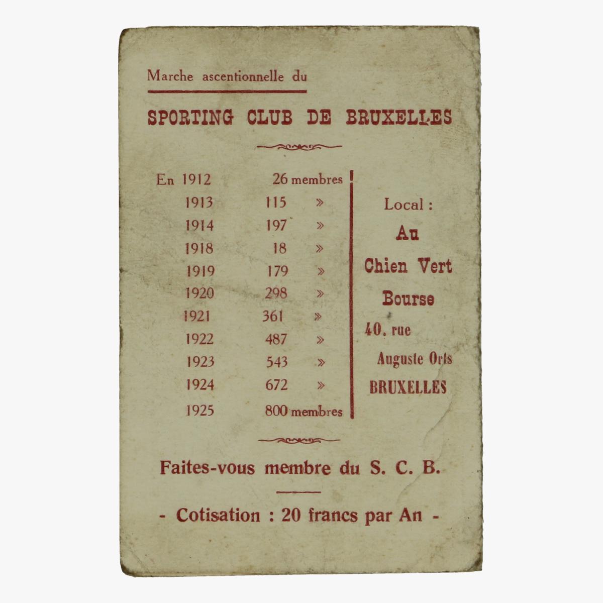 Afbeeldingen van sporting club de bruxelles 1926 ledenkaart