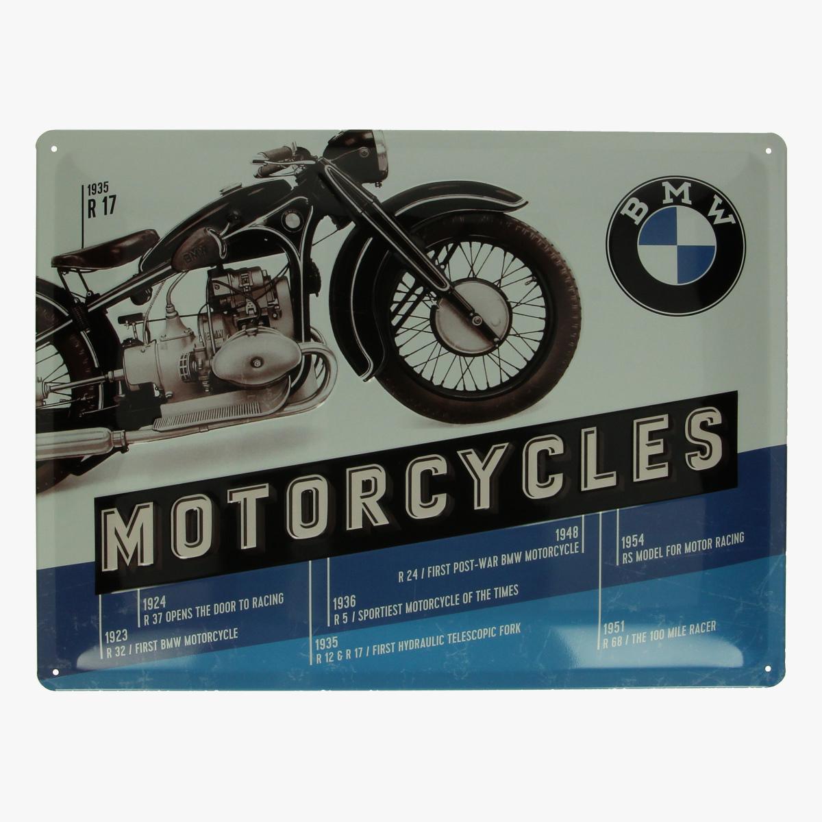 Afbeeldingen van blikken bord bmw motorcycles repro