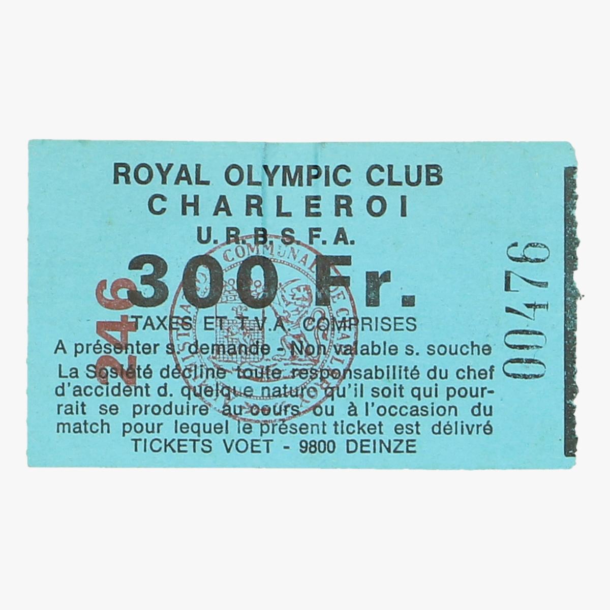 Afbeeldingen van voetbalticket royal olympic club charleroi
