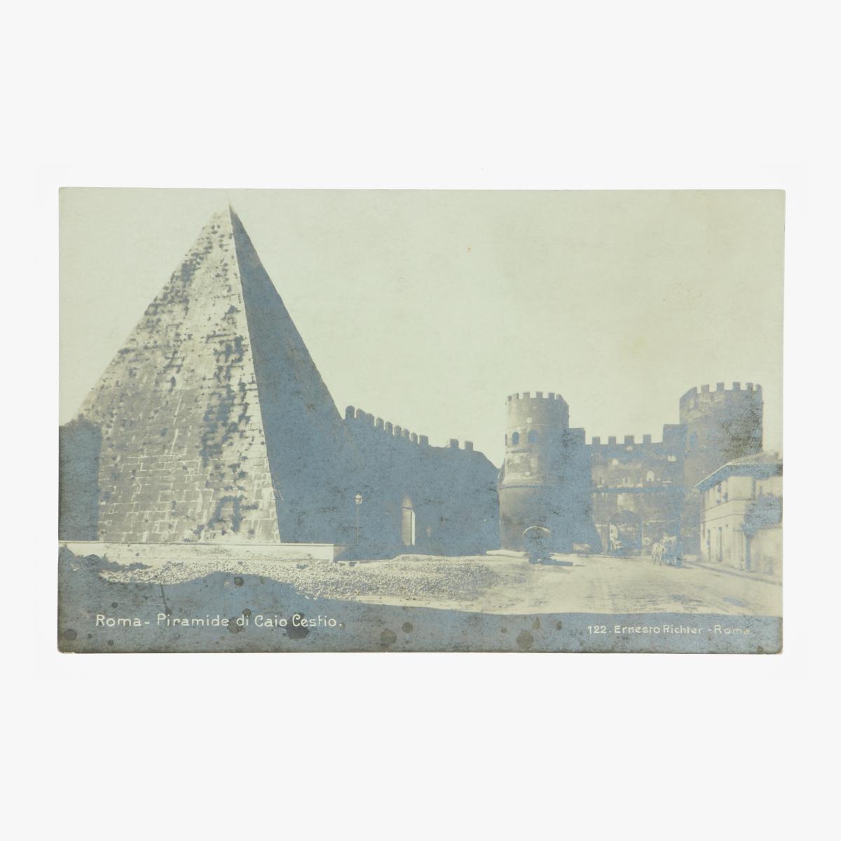 Afbeeldingen van Roma - Piramide di Caio Cestio. Postkaart Nr. 122 Ernesto Richter
