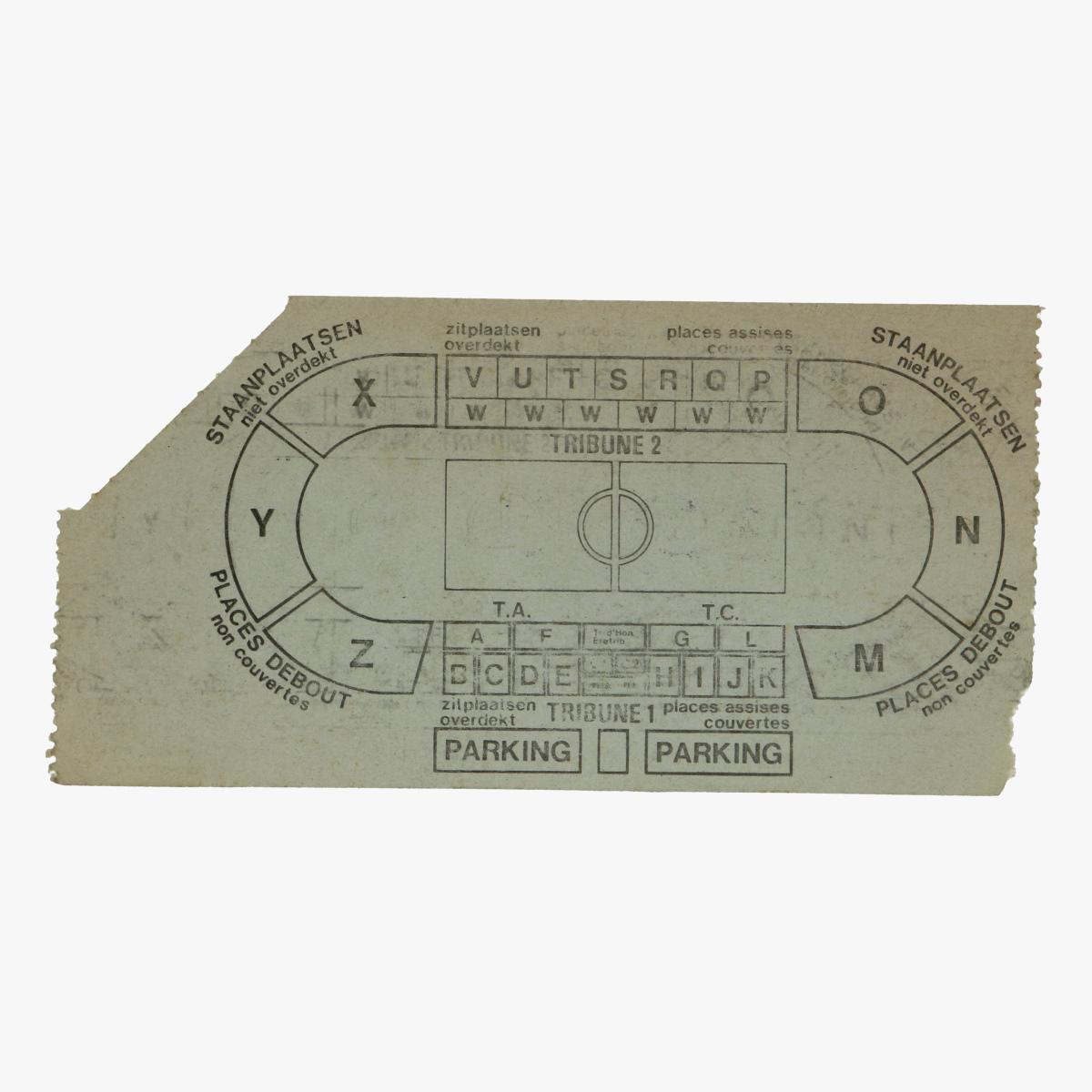 Afbeeldingen van voetbal ticket belgie schotland 15/12/82