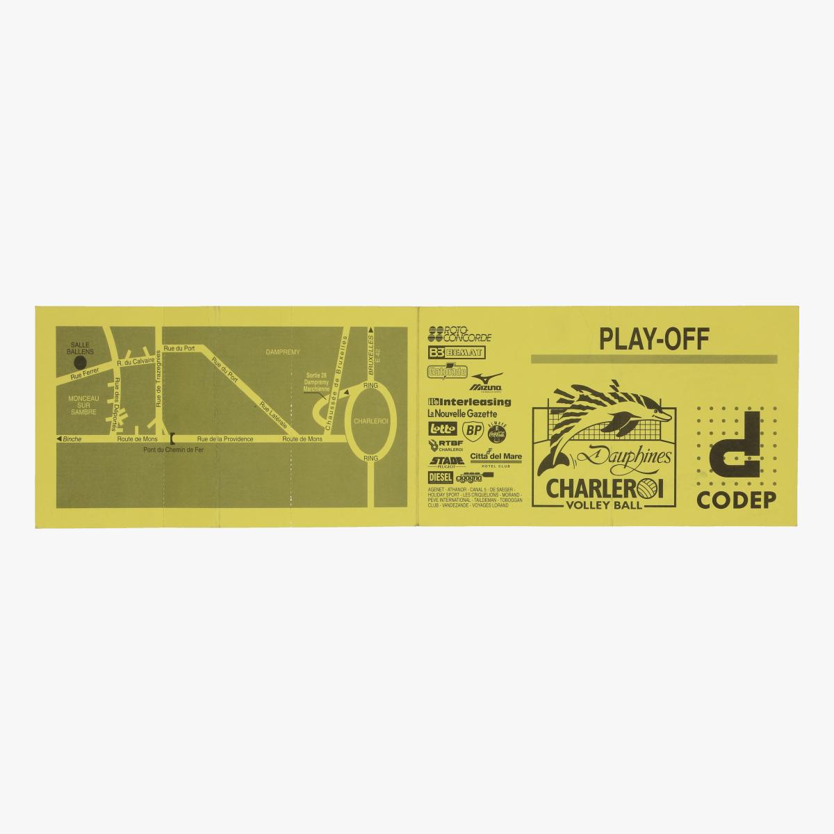 Afbeeldingen van tickets dauphines Charleroi 1995