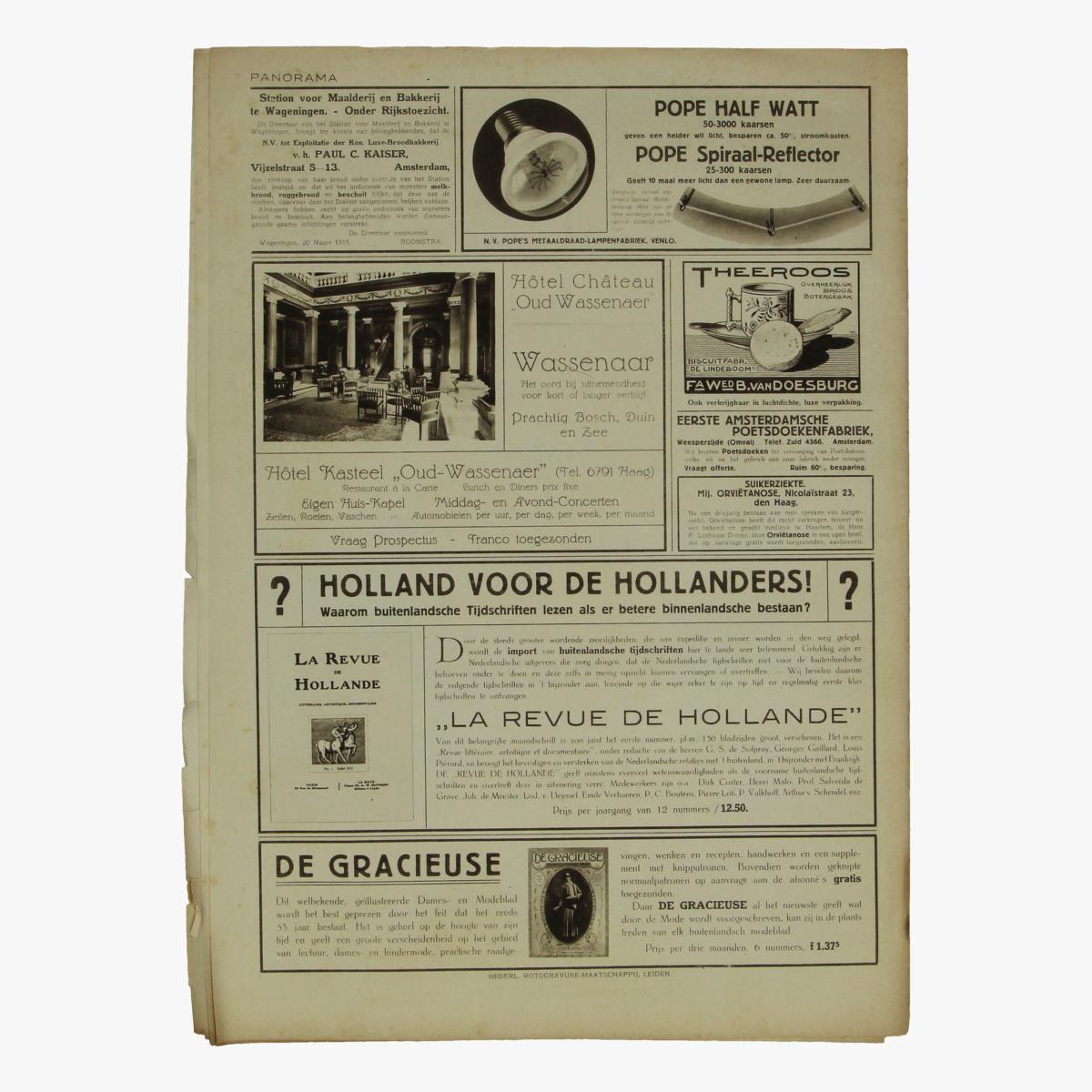 Afbeeldingen van oude weekblad panorama N°58   19 juli 1915