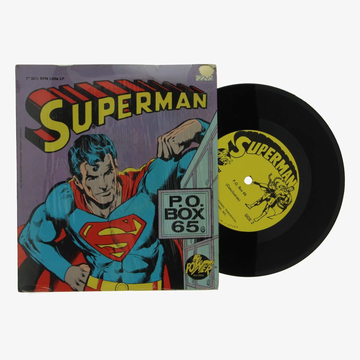 Afbeeldingen van superman singel P.O.BOX65 1975