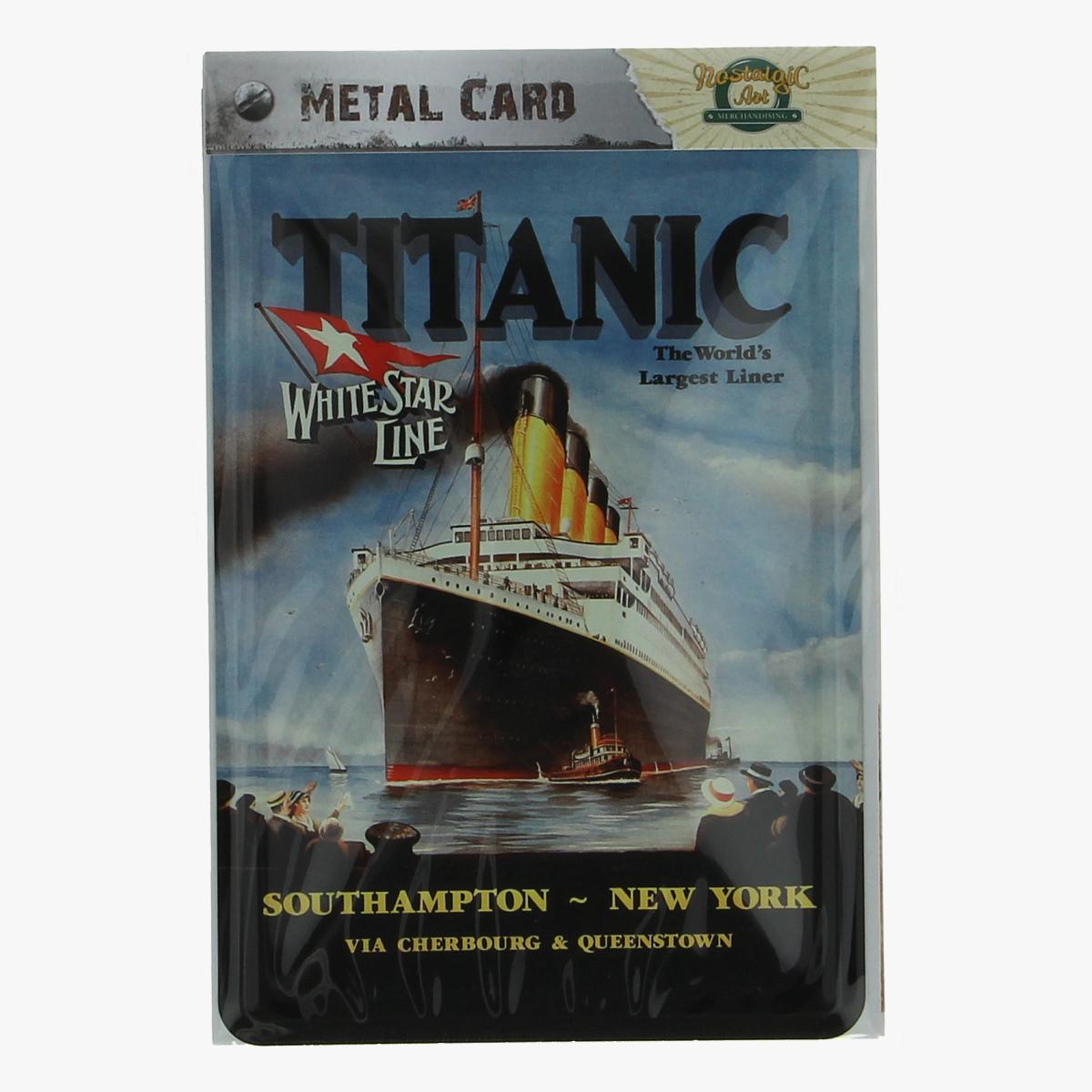 Afbeeldingen van metal card titanic