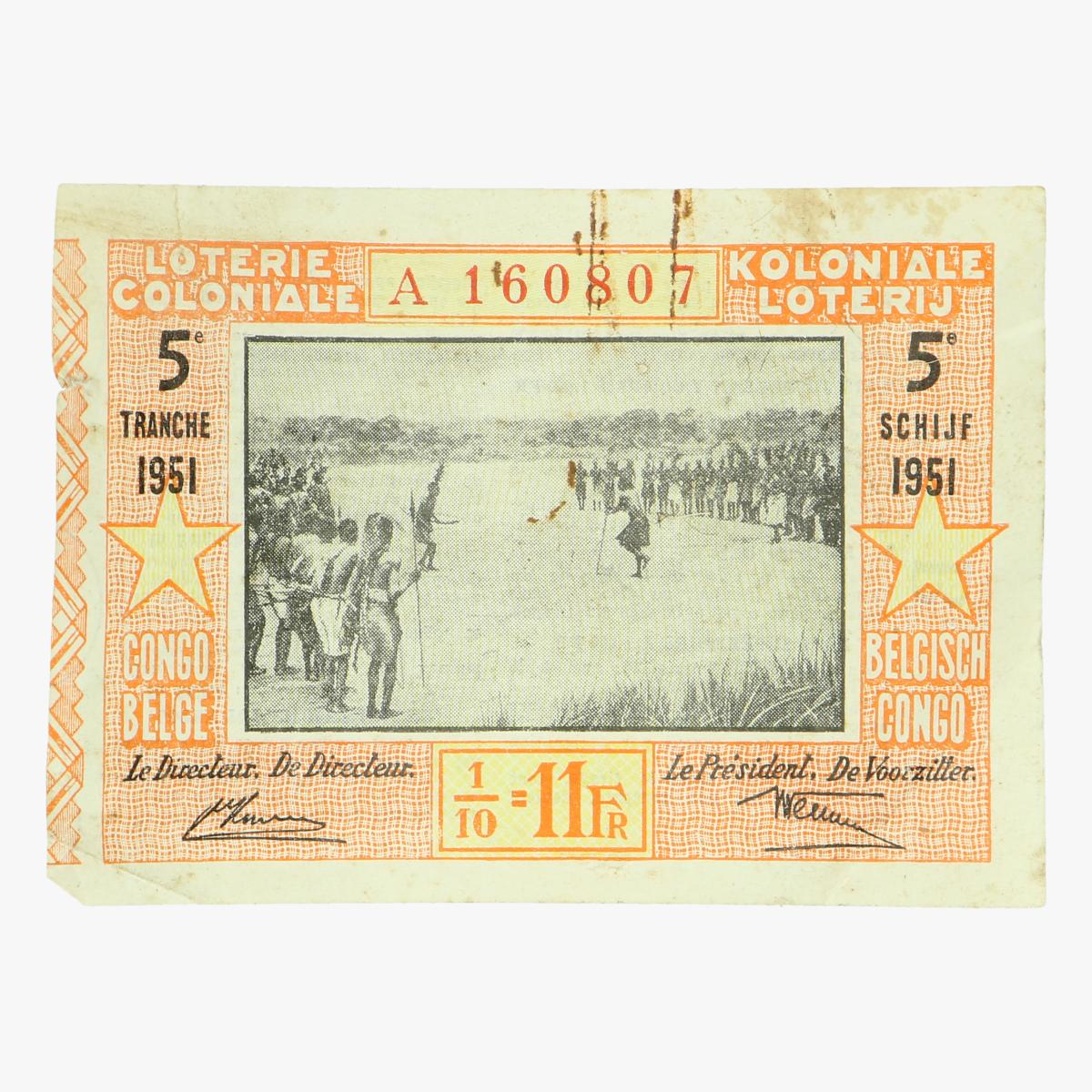 Afbeeldingen van koloniale loterij 1951