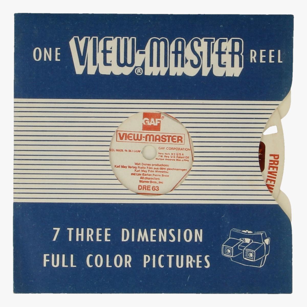 Afbeeldingen van View-Master Walt Disney Production. Nr. DRE 63